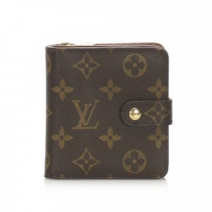 Louis Vuitton Monogram Bi-Fold Compact Small Wallet