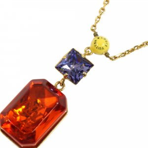 Louis Vuitton Monogram Cosmopolitan Crystal Pendant Necklace