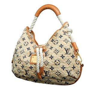 Louis Vuitton Shoulder Bag brown cotton