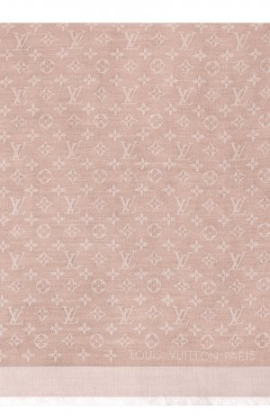 Louis Vuitton Foulard en soie vieux rose soie