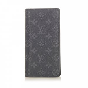 Louis Vuitton Monogram Eclipse Brazza Wallet