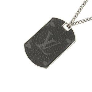 Louis Vuitton Monogram Eclipse Plate Necklace