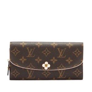 Louis Vuitton Monogram Emilie Bloom Long Wallet