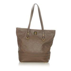 Louis Vuitton Sac fourre-tout brun cuir