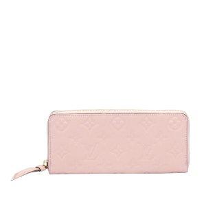 Louis Vuitton Monogram Empreinte Clemence Zippy Wallet