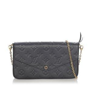 Louis Vuitton Bandolera negro Cuero