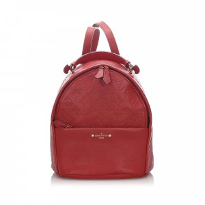 Louis Vuitton Sac à dos rouge cuir