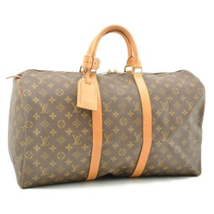 Louis Vuitton Luggage brown leather
