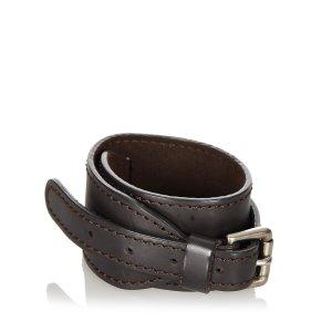 Louis Vuitton Bracelet brun foncé cuir