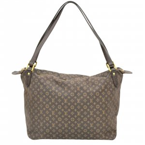 Louis Vuitton Sac porté épaule brun fibre textile