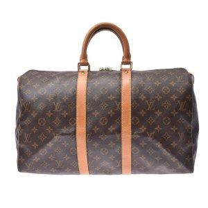 Louis Vuitton Bagage brun fibre textile