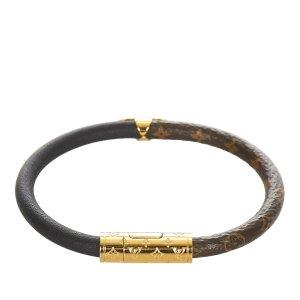 Louis Vuitton Bransoletka czarny Skóra