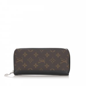 Louis Vuitton Monogram Macassar Vertical Zippy Wallet