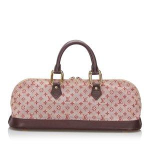Louis Vuitton Handbag red cotton