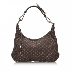 Louis Vuitton Bolsa Hobo marrón oscuro