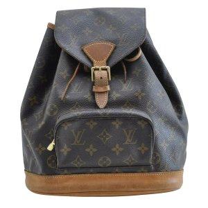 Louis Vuitton Mochila marrón fibra textil
