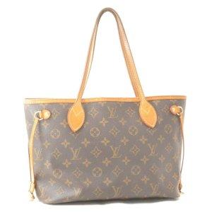 Louis Vuitton Sac fourre-tout brun fibre textile