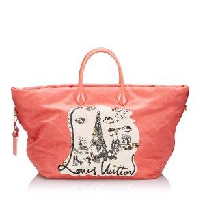 Louis Vuitton Travel Bag pink silk