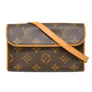 Louis Vuitton Clutch bruin Textielvezel