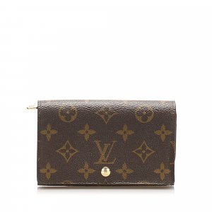 Louis Vuitton Monogram Porte Monnaie Billets Small Wallet