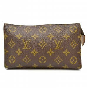 Louis Vuitton Borsa clutch marrone Fibra tessile