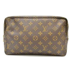 Louis Vuitton Pochette brun fibre textile
