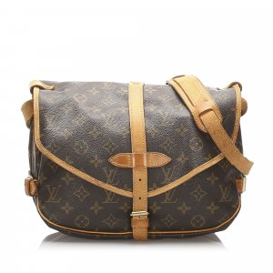 Louis Vuitton Borsa a spalla marrone