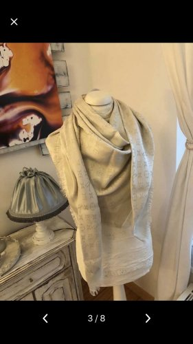 Louis Vuitton Shoulder Scarf cream-gold-colored