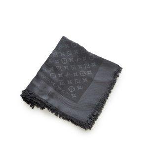 Louis Vuitton Sjaal zwart Zijde