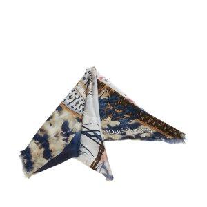 Louis Vuitton Scarf white silk