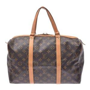 Louis Vuitton Equipaje marrón fibra textil