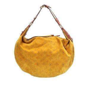 Louis Vuitton Hobo żółty Zamsz