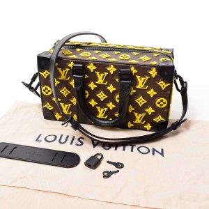 LOUIS VUITTON Monogram Toughtage Speedy Soft Trunk 2WAY Leather Bag