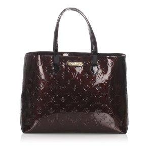 Louis Vuitton Sac fourre-tout brun foncé faux cuir