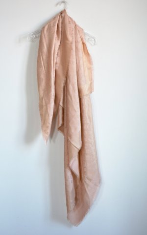 Louis Vuitton Monogram XL Shine Shawl Tuch Scarf Rose Poudre Wolle Seide
