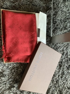 Louis Vuitton Shoulder Scarf red