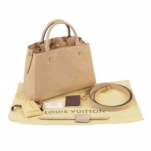 Louis Vuitton Montaigne BB Monogram Vernis Leder Dune Beige @mylovelyboutique.com