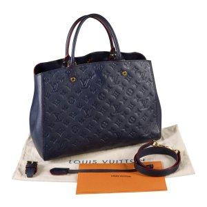 Louis Vuitton Torba na ramię ciemnoniebieski-niebieski Skóra