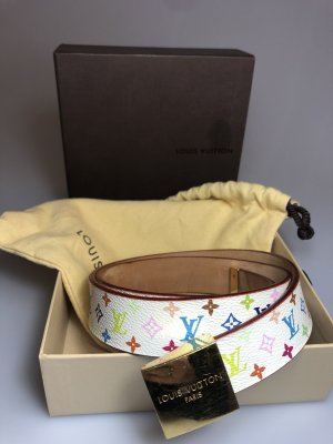 Louis Vuitton Leather Belt white