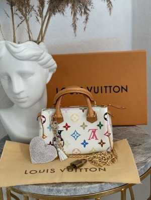 Louis Vuitton multicolor mini speedy nano Staubbeutel Schloss