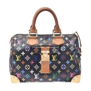Louis Vuitton Handtas zwart Textielvezel