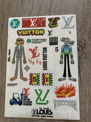 Louis Vuitton neu Aufkleber für  Taschen ,Boxen  usw