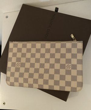 Louis Vuitton  Neverfull Clutch Pochette Damier Azur