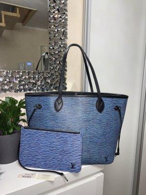 Louis Vuitton Neverfull MM EPI Blau Denim mit Pochette SELTEN