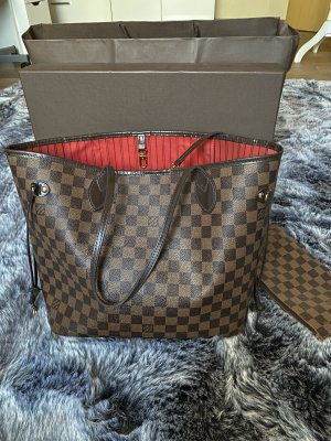 Louis Vuitton Neverfull MM Tote Damier Ebene Canvas LV Shopping Bag Tasche