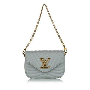 Louis Vuitton Gekruiste tas lichtblauw Leer