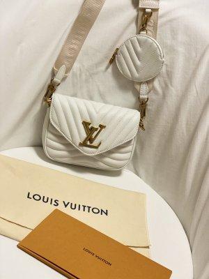 Louis Vuitton Pochette white leather