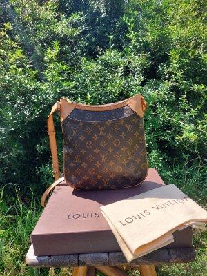 Louis Vuitton Gekruiste tas donkerbruin-zwart bruin