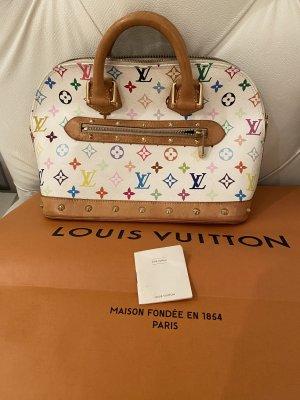 Louis Vuitton Borsa con manico bianco-marrone