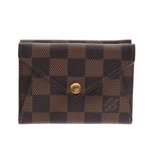 Louis Vuitton Cartera marrón fibra textil